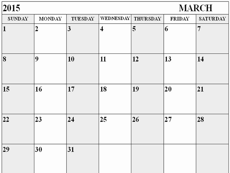 Blank Monthly Calendar Template Pdf Luxury Download Blank March 2015 Calendar Cute March 2015