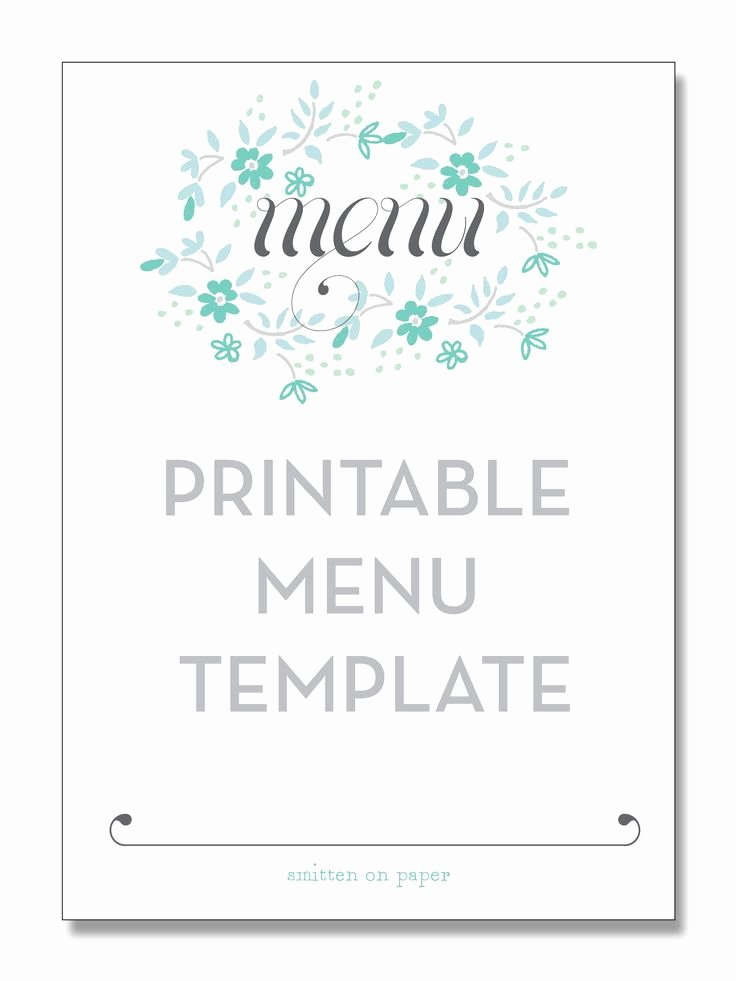 Blank Restaurant Menu Template Awesome Freebie Friday Printable Menu Party Time