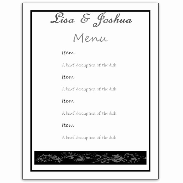 Blank Restaurant Menu Template Awesome Menu Template Word