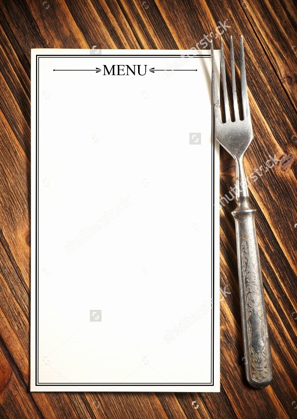 Blank Restaurant Menu Template Beautiful Free 22 Blank Menus Templates In Illustrator