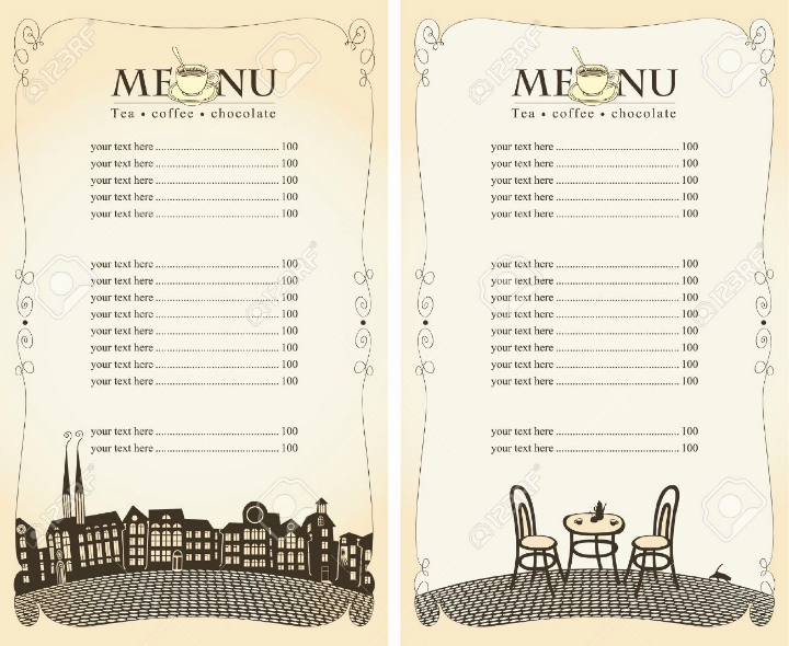 Blank Restaurant Menu Template Elegant 30 Blank Menu Templates Ai Psd Docs Pages