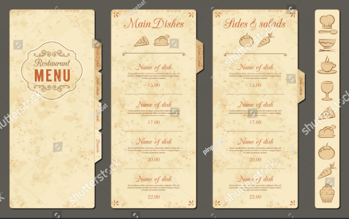 Blank Restaurant Menu Template Inspirational 30 Blank Menu Templates Ai Psd Docs Pages