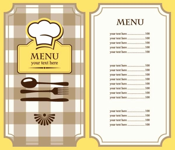 Blank Restaurant Menu Template Inspirational Free Restaurant Menu Template