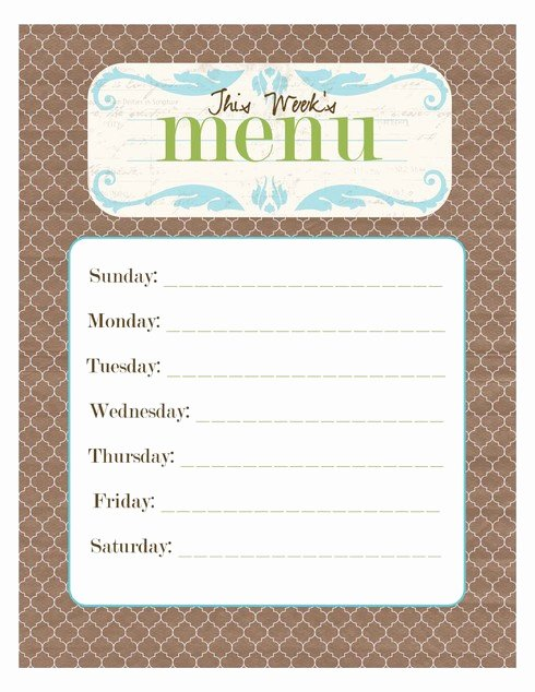 Blank Restaurant Menu Template Lovely Free Printable Blank Menu Templates