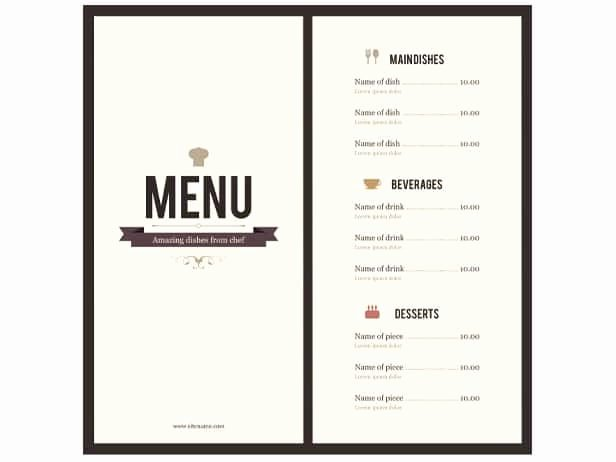 Blank Restaurant Menu Template New 8 Menu Templates Excel Pdf formats