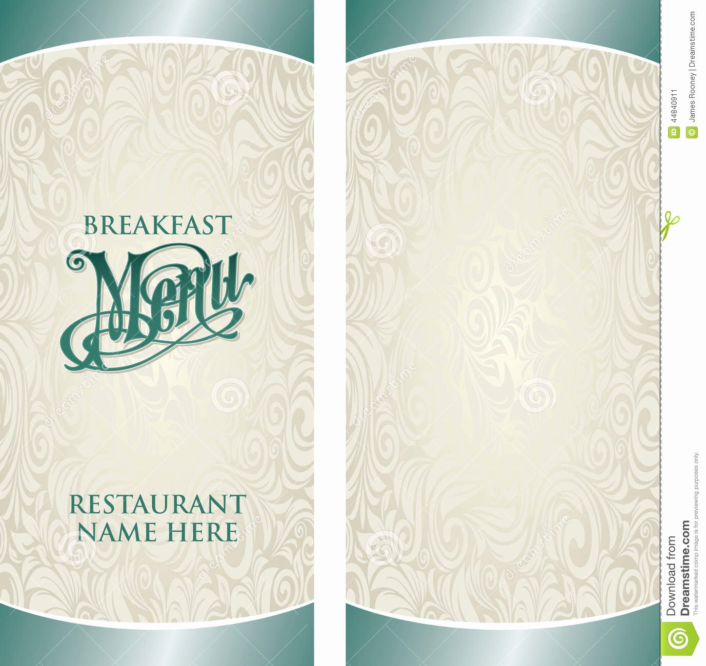 Blank Restaurant Menu Template New Menu Template Stock Vector Illustration Of Elegant