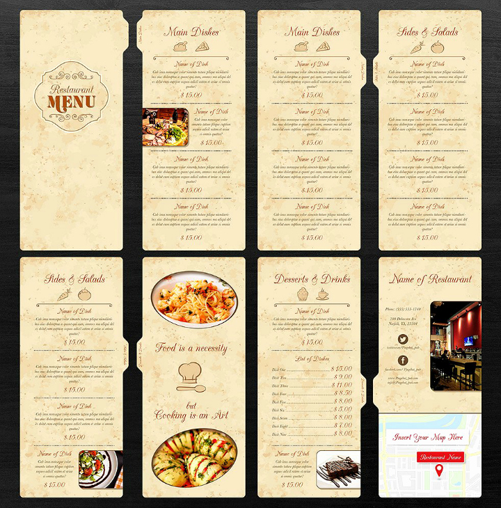 Blank Restaurant Menu Template Unique 30 Blank Menu Templates Ai Psd Docs Pages