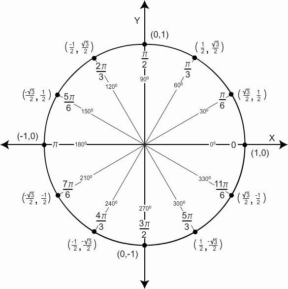 Blank Unit Circle Pdf Fresh Unit Circle Charts