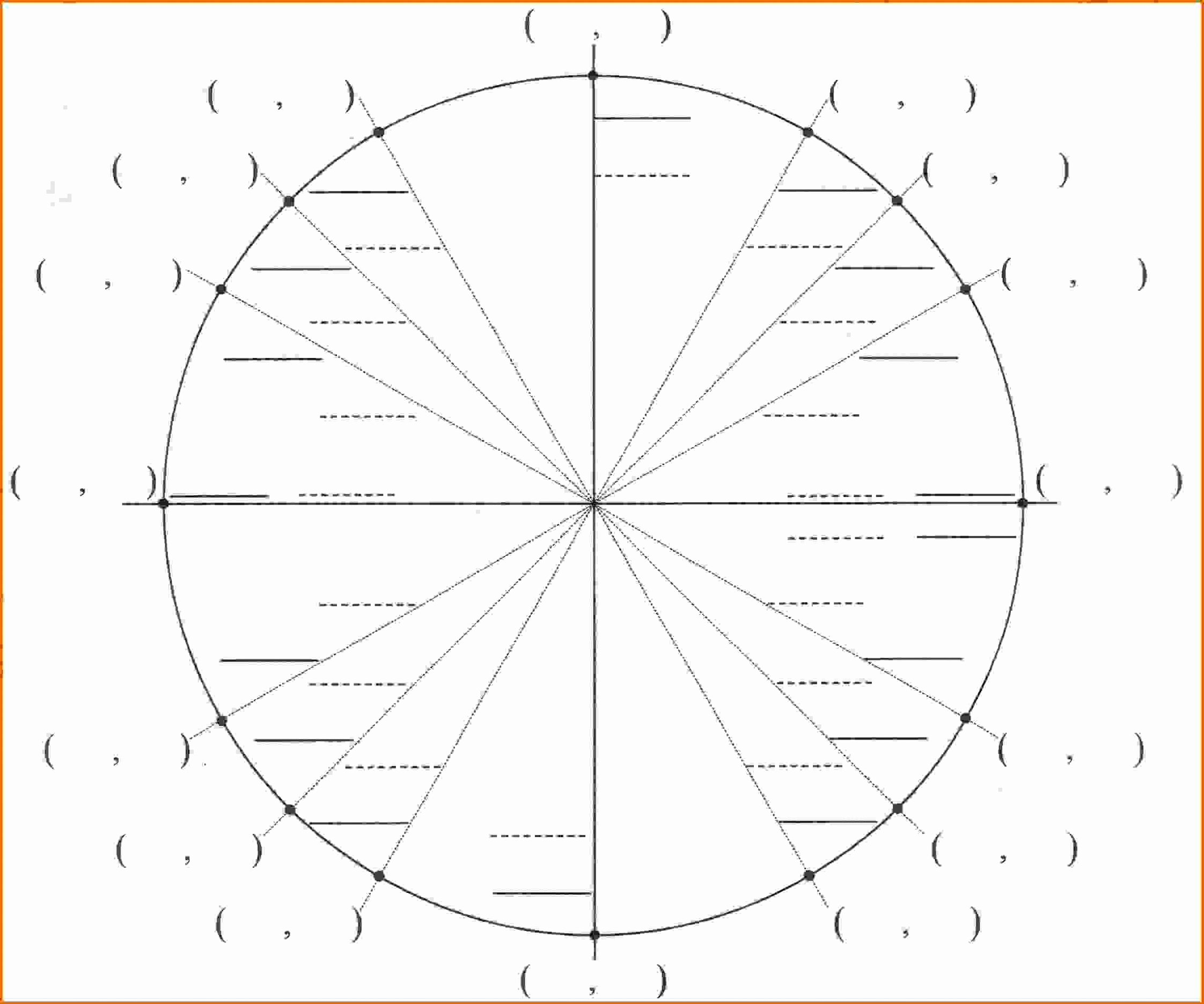 Blank Unit Circle Pdf Inspirational Printable Blank Unit Circle Worksheet Template Pdf