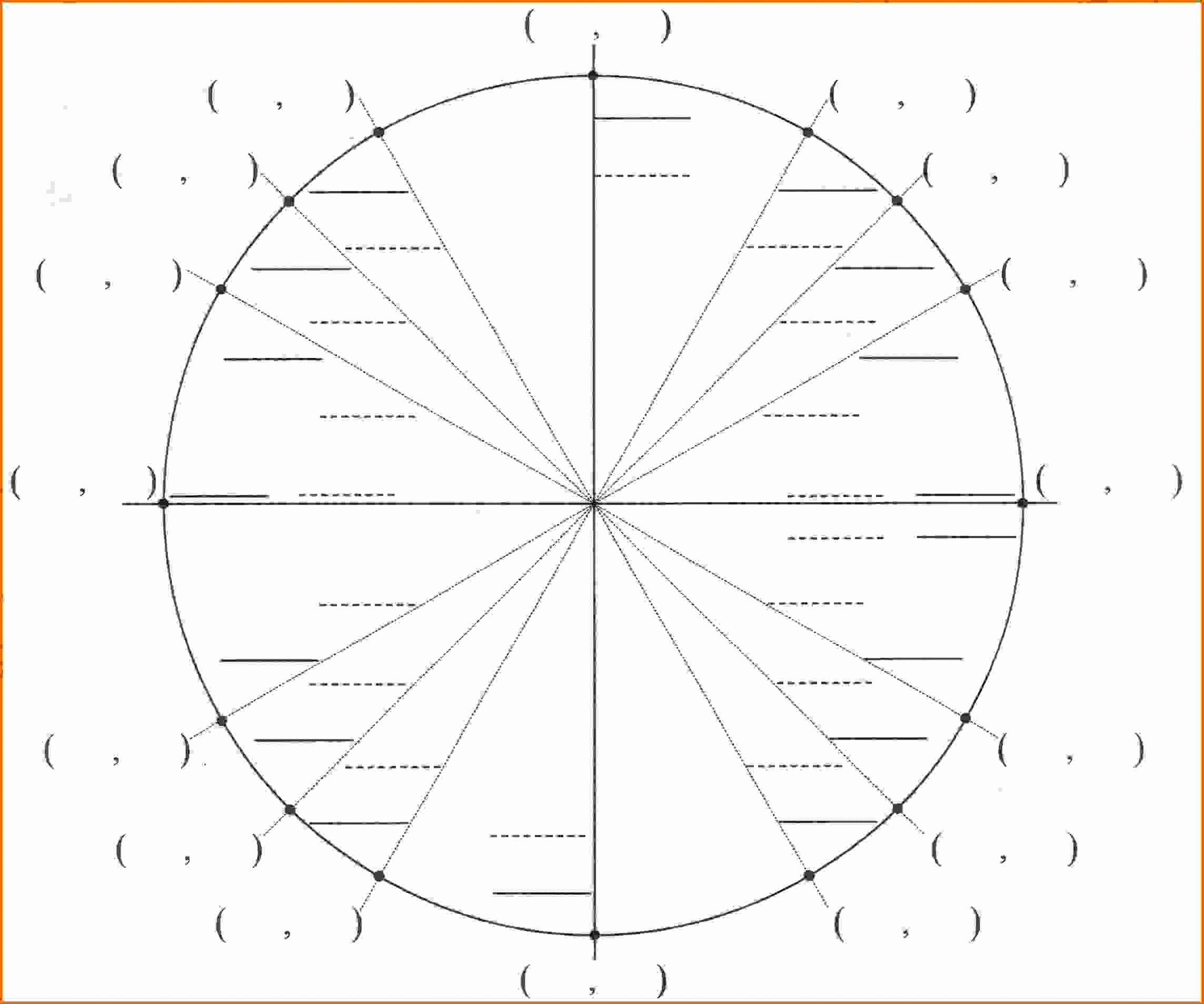 Blank Unit Circle Pdf Inspirational Printable Blank Unit Circle Worksheet Template Pdf