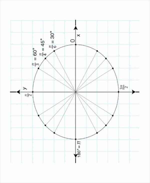 Blank Unit Circle Pdf Luxury 16 Unit Circle Chart Templates Free Sample Example