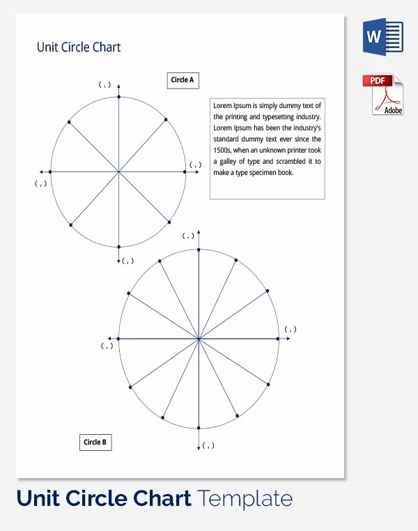 Blank Unit Circle Pdf New Unit Circle Chart Template – 20 Free Word Pdf format