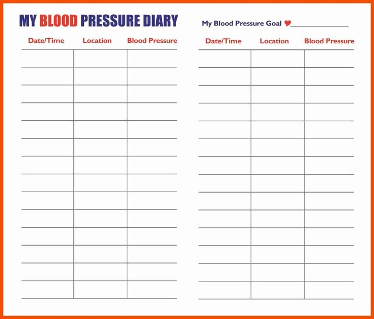 Blood Pressure Chart Pdf Awesome Printable Chart Printable Blood Pressure Chart Template 5