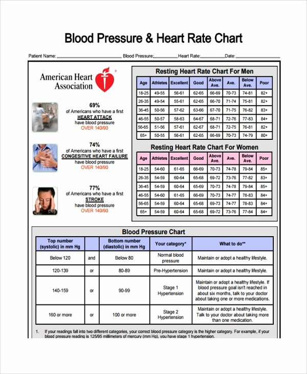 Blood Pressure Chart Pdf Beautiful Sample Blood Pressure Chart Template 9 Free Documents