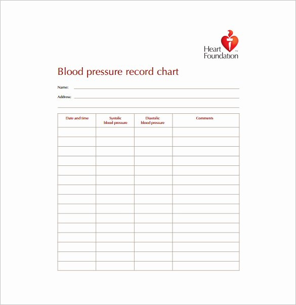 Blood Pressure Chart Pdf Inspirational 9 Blood Pressure Chart Templates Free Sample Example