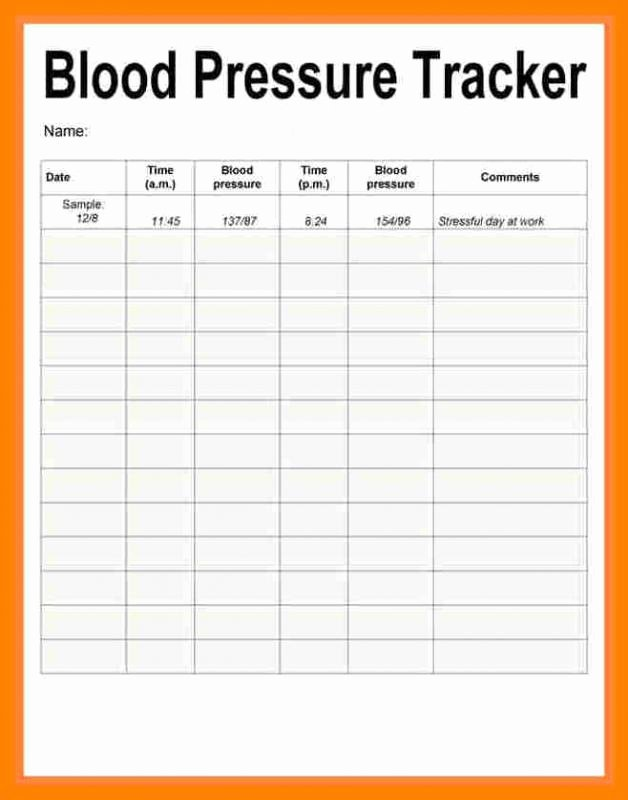 Blood Pressure Chart Pdf New Blood Pressure Recording Chart