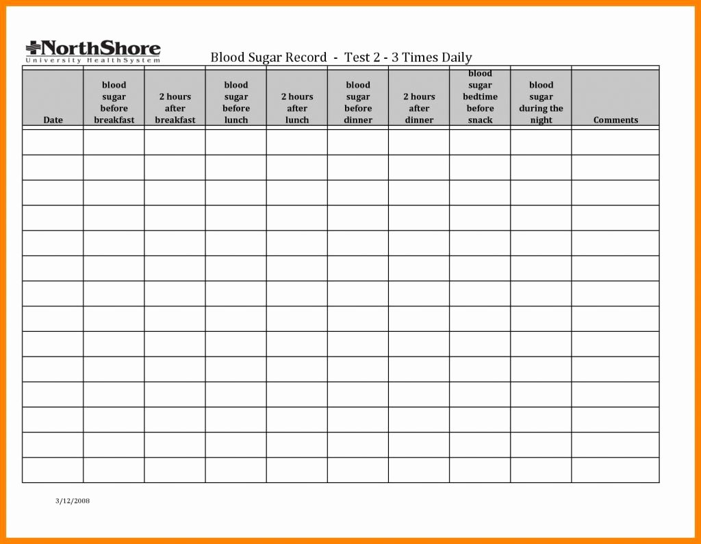 Blood Sugar Log Excel Awesome Diabetes Daily Log Template