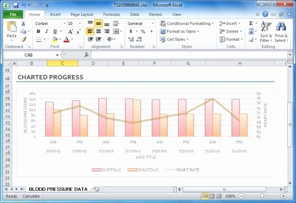 Blood Sugar Log Excel Beautiful Blood Pressure Tracker Template for Excel