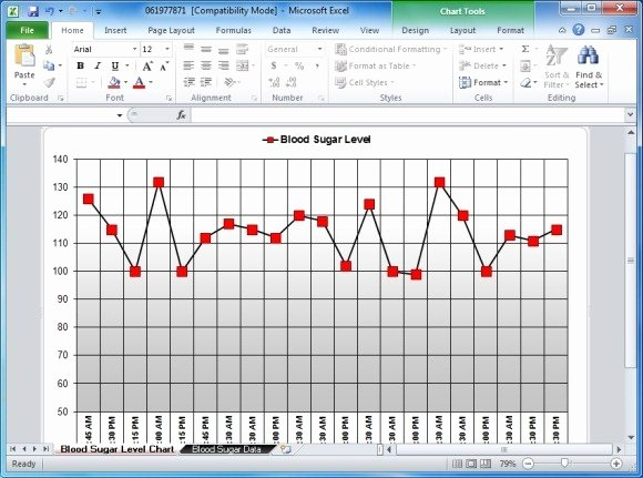 Blood Sugar Log Excel Elegant Blood Sugar Tracker Template for Excel
