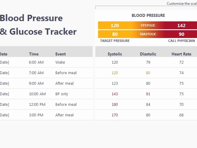 Blood Sugar Log Excel Fresh Blood Pressure and Glucose Tracker My Excel Templates