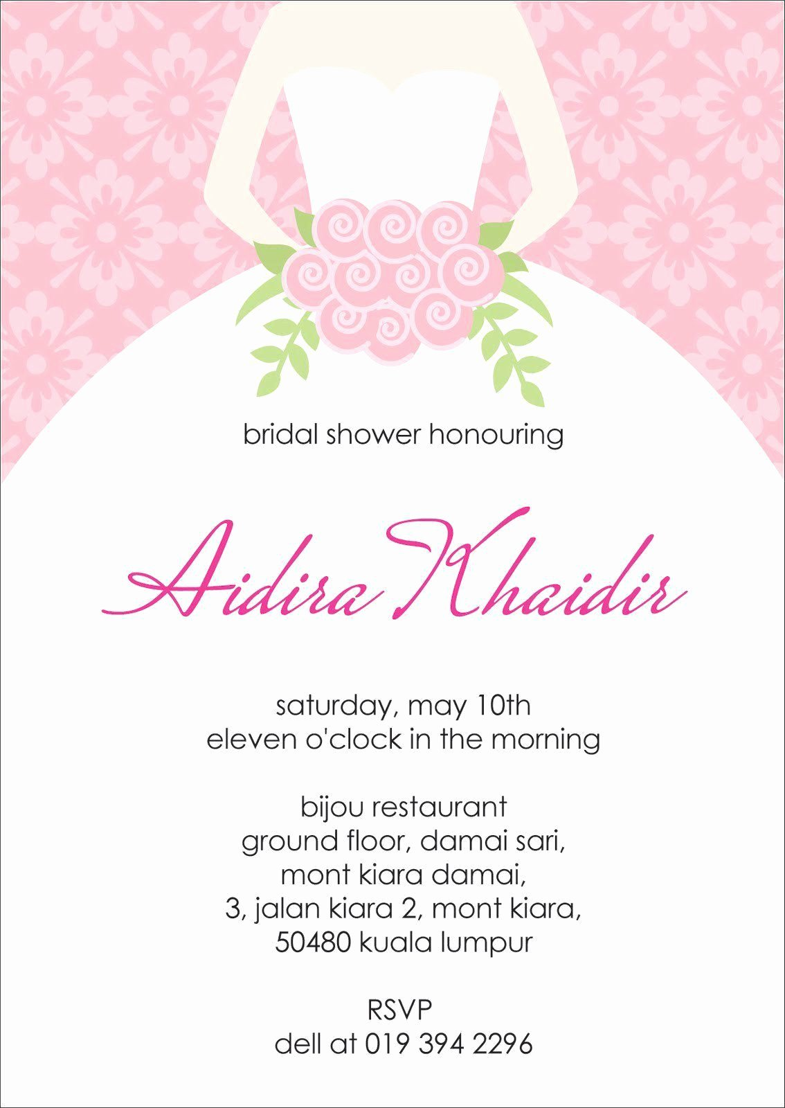 Bridal Shower Invite Template Awesome Bridal Shower Invite Template Chanel Bridal Shower