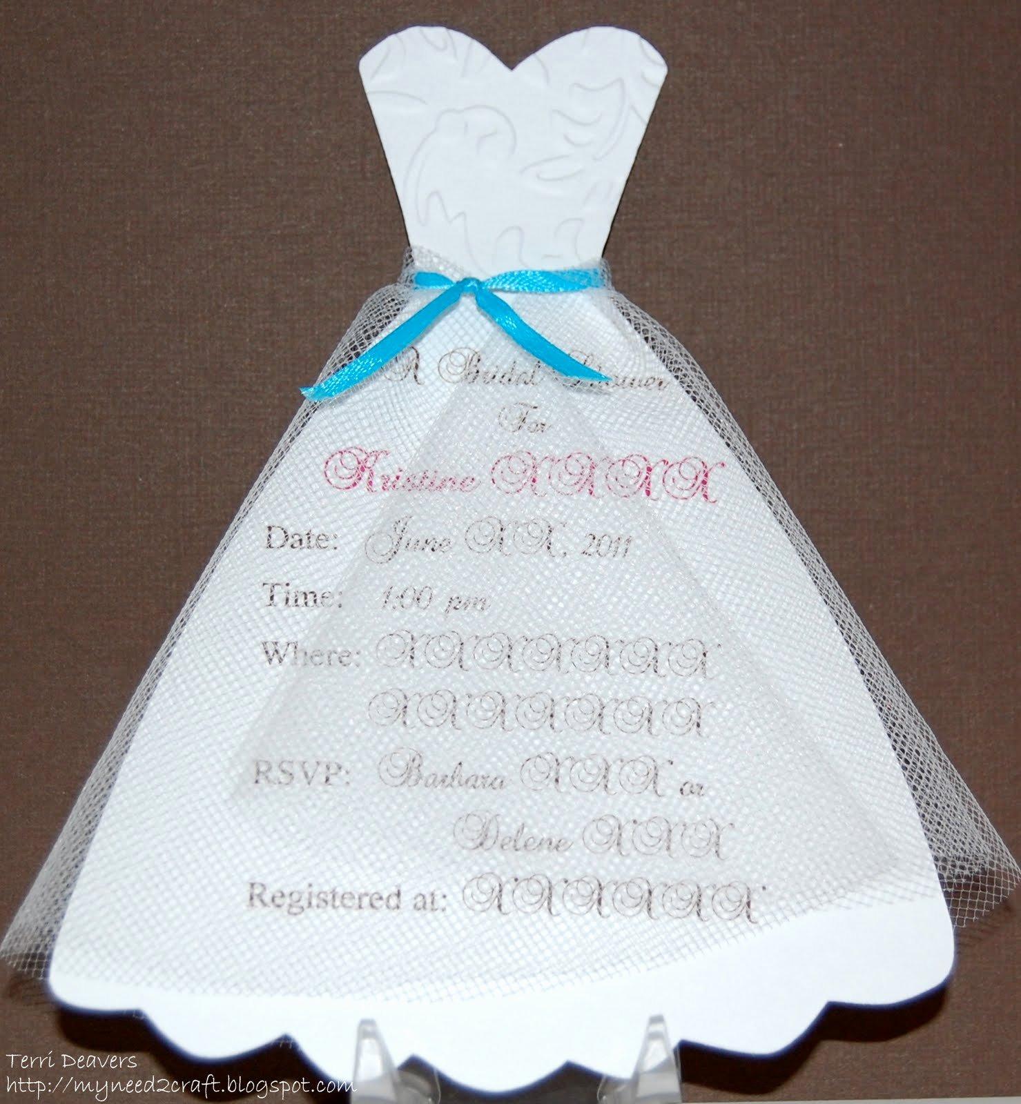 Bridal Shower Invite Template Beautiful Myneed2craft by Terri Deavers Bridal Shower Invitations