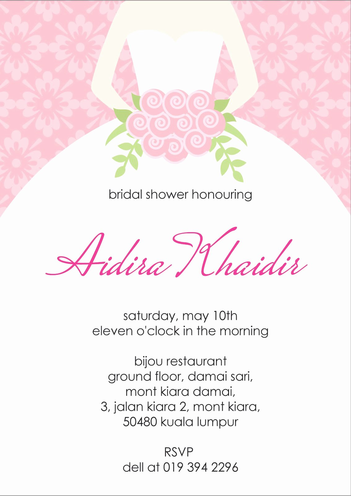 Bridal Shower Invite Template Beautiful Your One Stop Wedding Centre Ts Deco Favors and