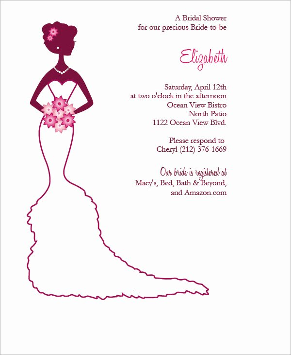 Bridal Shower Invite Template Best Of 22 Free Bridal Shower Printable Invitations All Free