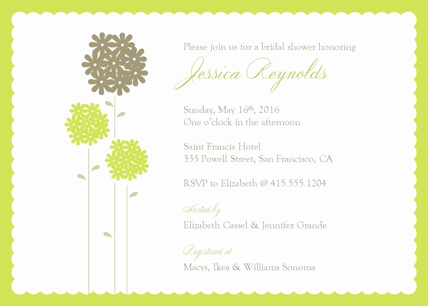 Bridal Shower Invite Template Best Of Bridal Shower Invitations Bridal Shower Invitations