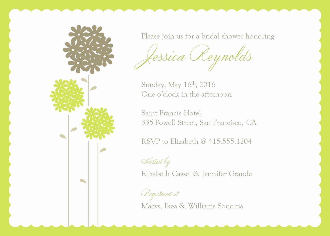 Bridal Shower Invite Template Best Of Bridal Shower Invitations Bridal Shower Invitations