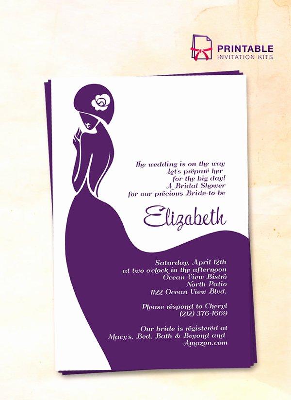 Bridal Shower Invite Template Elegant 52 Invitation Templates