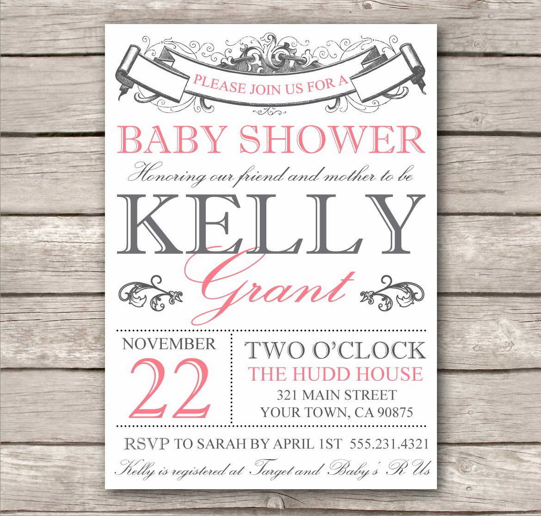Bridal Shower Invite Template Elegant Bridal Shower Invitation or Baby Shower Invitation by