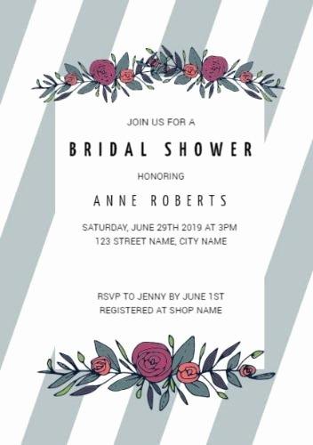 Bridal Shower Invite Template Elegant Customize Over 200 Bridal Shower Invitation Templates