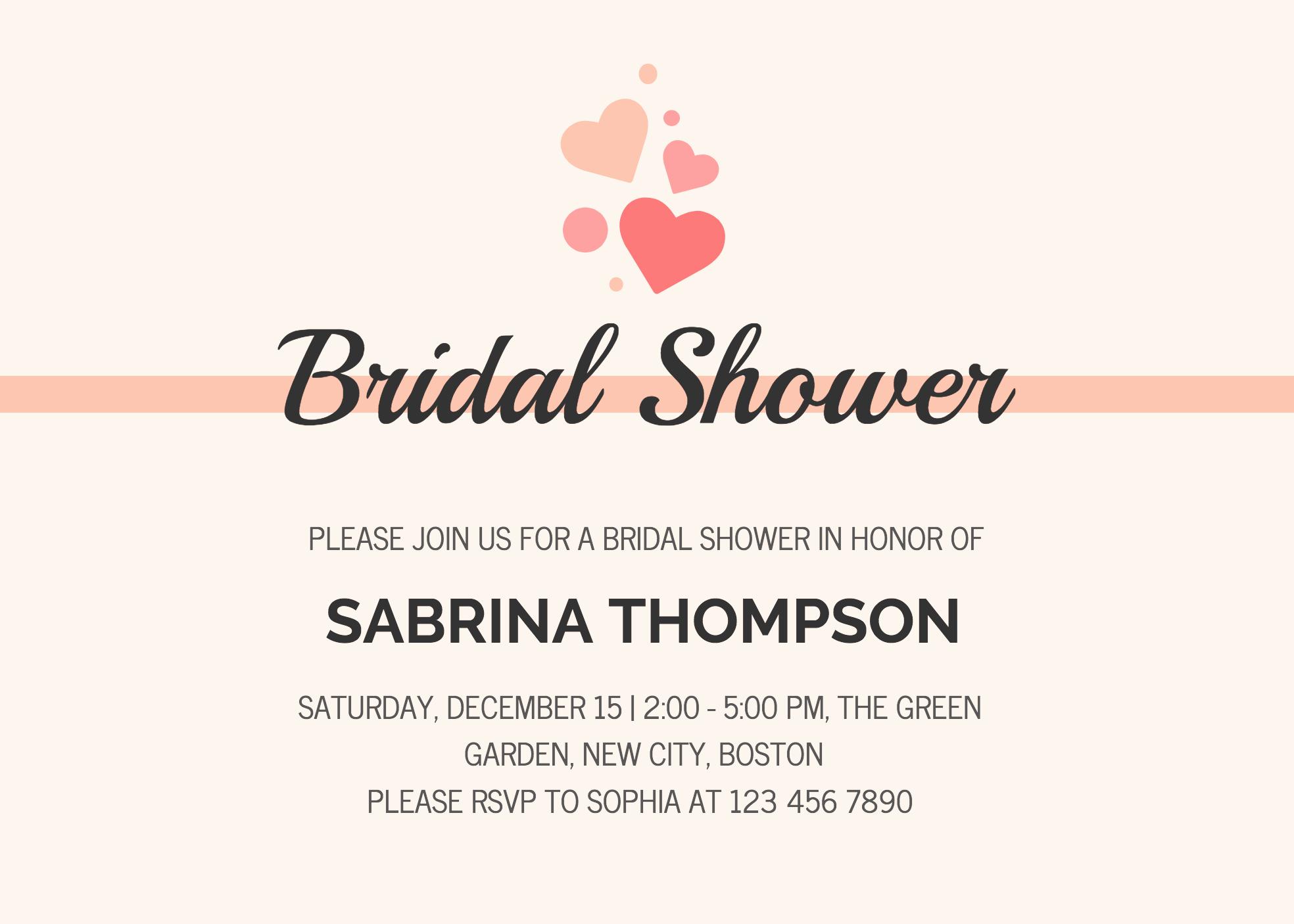 Bridal Shower Invite Template Fresh 19 Diy Bridal Shower and Wedding Invitation Templates
