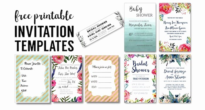Bridal Shower Invite Template Fresh Party Invitation Templates Free Printables Paper Trail