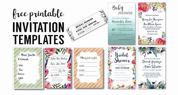 Bridal Shower Invite Template Fresh Party Invitation Templates Free Printables Paper Trail