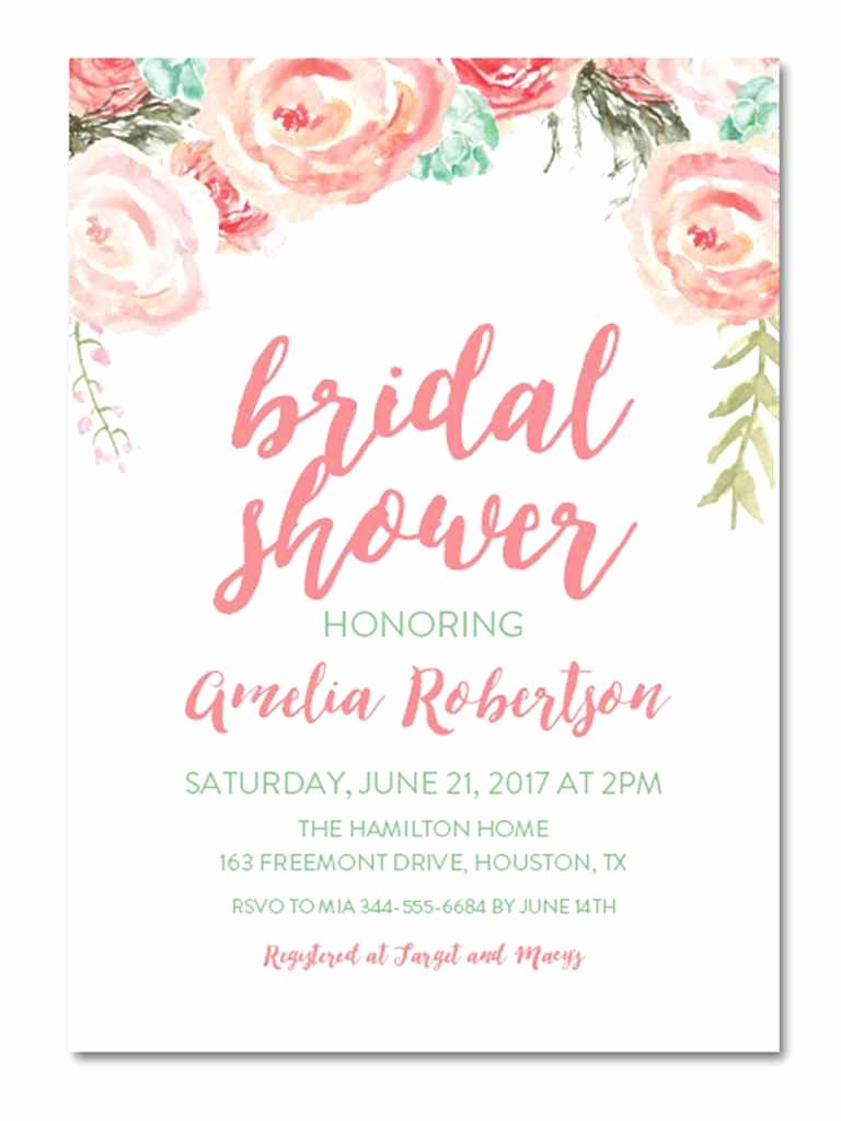 Bridal Shower Invite Template Inspirational Printable Bridal Shower Invitations You Can Diy