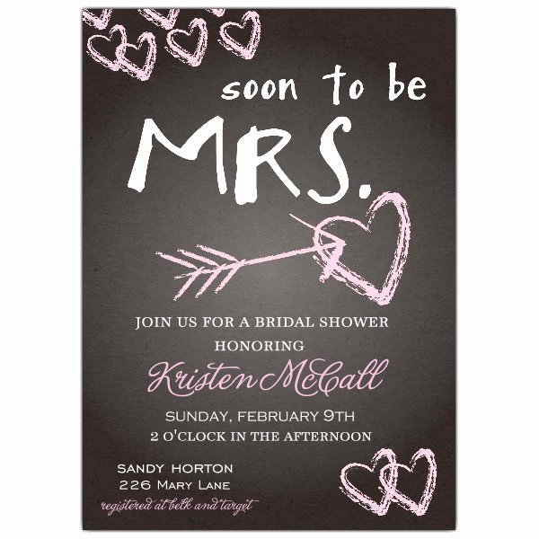Bridal Shower Invite Template Luxury Chalkboard Love Bridal Shower Invitations