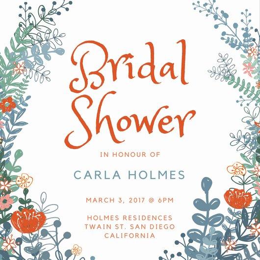 Bridal Shower Invite Template Luxury Customize 636 Bridal Shower Invitation Templates Online