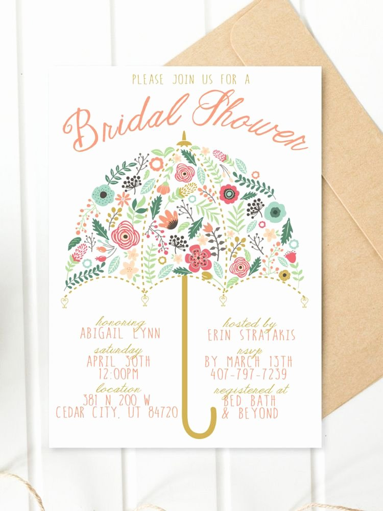 Bridal Shower Invite Template Luxury Printable Bridal Shower Invitations You Can Diy