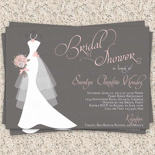 Bridal Shower Invite Template New 33 Psd Bridal Shower Invitations Templates