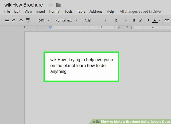 Brochure Templates for Google Docs Awesome How to Make A Brochure Using Google Docs Wikihow