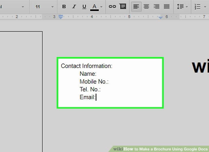 Brochure Templates for Google Docs Best Of How to Make A Brochure Using Google Docs Wikihow