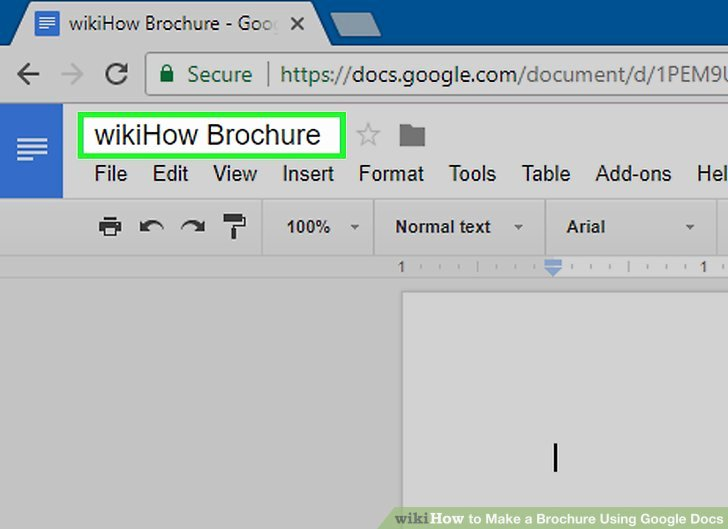 Brochure Templates for Google Docs Elegant How to Make A Brochure Using Google Docs with