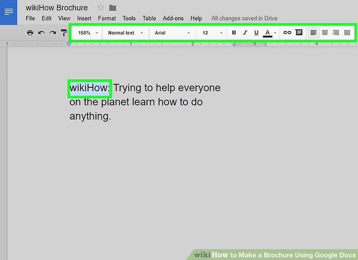 Brochure Templates for Google Docs Fresh How to Make A Brochure Using Google Docs Wikihow