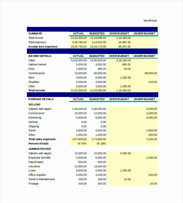 Business Budget Template Excel Awesome Spreadsheet Template Excel Providers