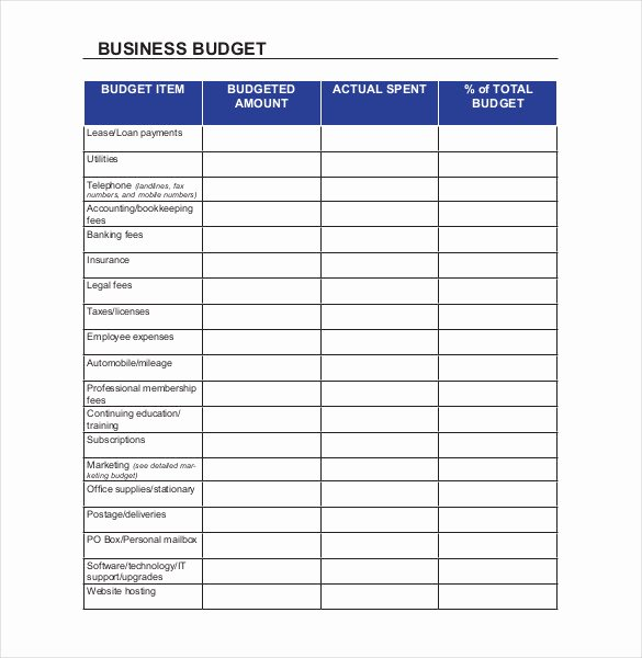 Business Budget Template Excel Fresh 18 Sample Business Bud Templates Word Pdf Apple