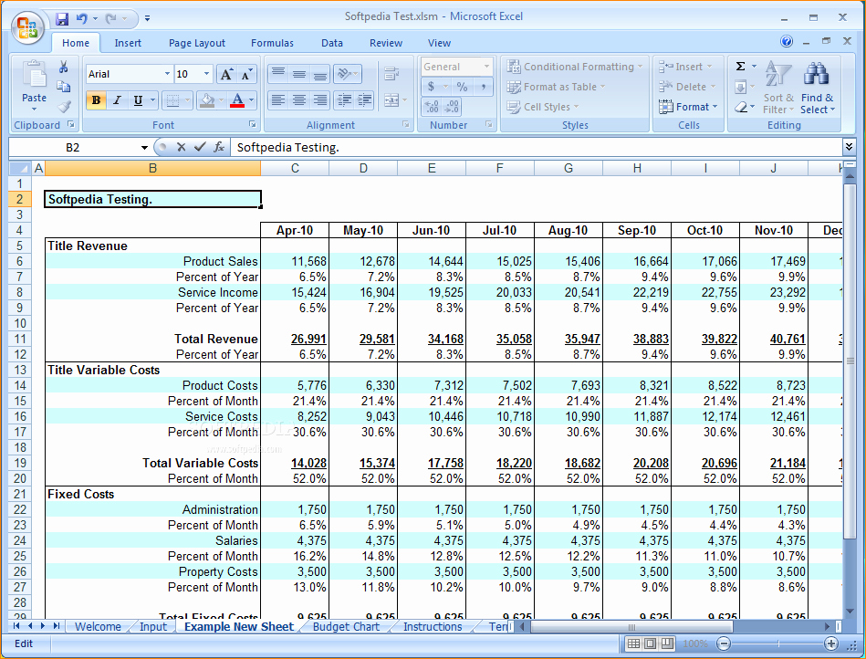 Business Budget Template Excel Fresh 6 Business Bud Template Excel
