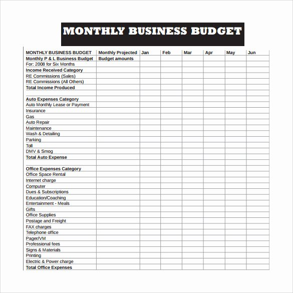 Business Budget Template Excel Fresh Free 16 Sample Business Bud Templates In Google Docs