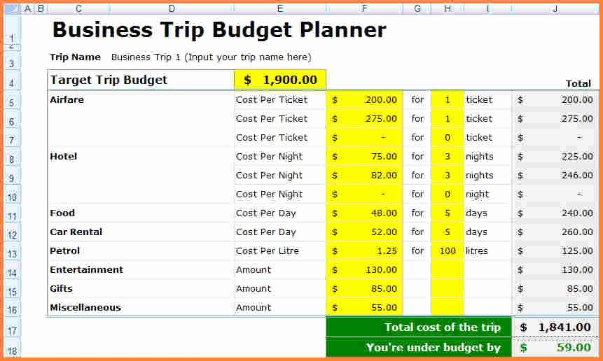 Business Budget Template Excel Lovely 10 Spreadsheet for Business